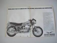 advertising Pubblicità 1983 MOTO GUZZI 850 T5