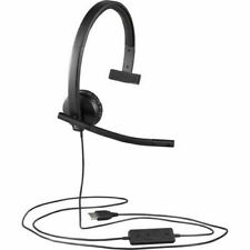 Logitech H570e USB Mono Headset with Noise-Cancelling Microphone 981-000570