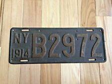 1914 New York License Plate