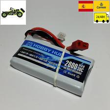 bateria para Wltoys 12428 Lipo 2s 7,4v 2800mah 30C conector t goolsky traxxas
