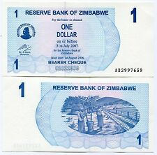 Zimbabwe 2006 P37 1 Dollar Bearer Check UNC Banknote