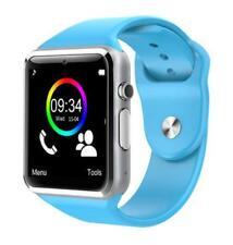 Reloj Inteligent Bluetooth Podómetro Con tarjeta SIM TF Cámara color AZUL