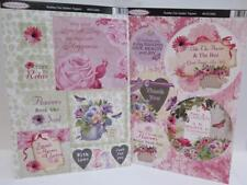 Debbi Moore Shabby Chic Die Cut Garden Toppers Sentiments (5 Sheets) JLH092