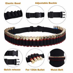 Tactical Shotgun Shell Bandolier Belt 50Round Ammo Holder Military Belt Shooting