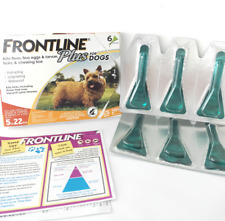 6 Doses - Frontline Plus for Small Dogs 5-22 lbs Flea and Tick Control Treatment