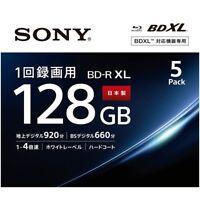 SONY BD-R Printable HD Blu-Ray 4x Speed Blank Disc Media BDR 128GB 5 Packs Japan