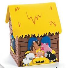 3D Nativity Stable Craft Kit Kids Gift Christmas Jesus Foam House