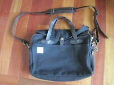 Filson Apolis Uniform Rugged Twill Original Briefcase Laptop Messenger Bag Black