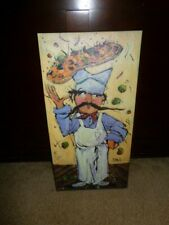 VINTAGE CHEF  LUIGI Canvas ART BY JOANNA NEW ORLEANS LOUISIANA PIZZA