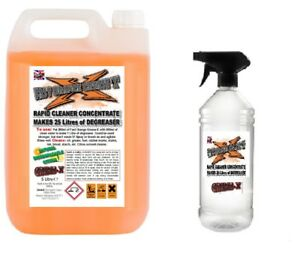 FAST ORANGE GREASE X 5L makes 25 Litre Strong Citrus Cleaner Degreaser + Sprayer