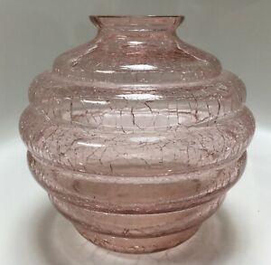 Vintage Crackle Glass Vase