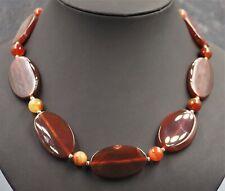 Women's Necklace Carnelian Gemstone  & Sterling Silver VINTAGE Jewellery