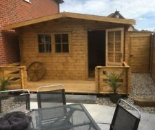 More details for 3.8 m by 6m used log cabin, ideal for garden office,bar,playroom or gym