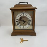 Vintage Hamilton 2 Jewels Made in West Germany 340-020 Wheatland Mantle Clock