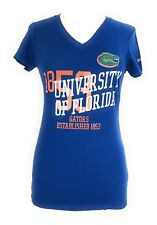 Florida Gators Junior Ladies NCAA Collegiate Royal Printed Tee Shirt Top M & L.