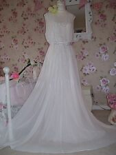 Coast NEW  18 vintage inspired stunning ivory embellished  bridal prom dress