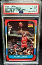 Michael Jordan 1996 Fleer #U4 Ultra Decade of Excellence PSA 8 Near Mint - Mint