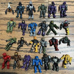 Lot Incomplete/Complete Mega Bloks Construx Halo Spartans Covenant Mini Figures