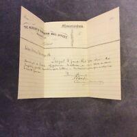 Antique The Mercury & Tasmanian Mail Offices Memorandum - 1800s
