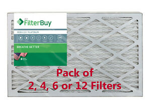 FilterBuy 14x20x1 Air Filters, Pleated Replacement for HVAC AC Furnace (MERV 13)