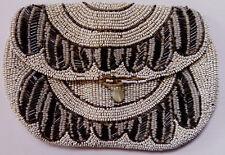 Antique Art Nouveau C1910, Beaded Evening Purse / Clutch Bag, Hand-Made. Vgc