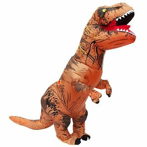 T-Rex Blow Inflatable Dinosaur Costume Adult Jurassic World Park Trex AU STOCK