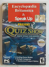PC CD-ROM QUIZ SHOW - ENCYCLOPEDIA & SPEAK UP