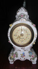 Vintage Dresden China Germany Mercedes Small Clock does not work & FREE SHIPPING