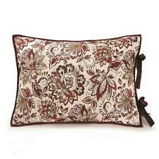 ONE Better Homes and Gardens RED Velvet KING SHAM  NEW FLORAL BURGANDY WINE