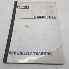 Yamaha Quad Bike ATV YFM600FWAK Grizzly Factory Service Training Manual 1997