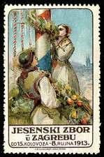 Yugoslavia Poster Stamp - 1913 Autumn Festival - Zagreb