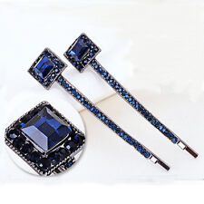 Fashion Crystal Square Rhinestone Hair Barrette Clip Hairpin Women Girl Gift