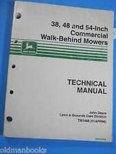 """John Deere 38 48 54"""" Commercial Walk-Behind Mower Technical Manual TM1488 1996"""