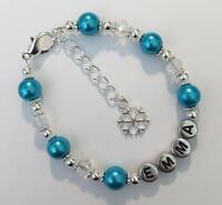 Frozen Elsa inspired girls personalised bracelet party, birthday, Christmas gift