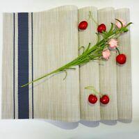 PVC Placemats Set of 4  Heat Resistant Non Slip Washable Woven 17.7''X11.8''