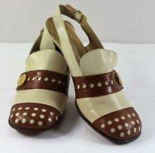 Vintage Cobbies Two Tone Leather Closed Toe Sling Back Shoes Womens 6.5M