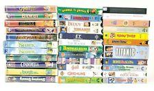 Lot of 34 VHS Movies Disney Kids Family Titanic Jumanji ET Shrek Bugs Life Belle