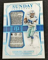 EZEKIEL ELLIOTT 2019 NATIONAL TREASURES DUAL Patch Tag Laundry TRUE 1/1 Cowboys