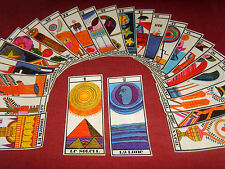 Ancien jeu de cartes divinatoire style oracle spirite de Mariana spiritisme