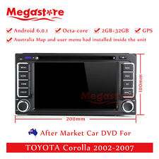 """6.2"""" Octa Core Android 6.0 Car DVD GPS Player Navi For TOYOTA Corolla 2002-2007"""