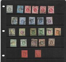 Stamp collection Hong Kong King Edward VII to GV Stamps China overprints