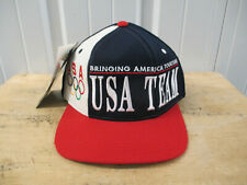 VINTAGE STARTER USA OLYMPIC TEAM SEWN LOGO SNAPBACK HAT CAP 90s NWT 1992 DREAM