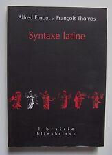 #) Syntaxe latine - Alfred Ernout, François Thomas