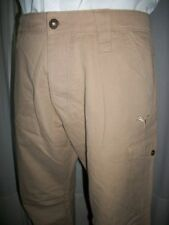 Pantalon coton beige épais droit PUMA L 46/48 W36 brodé logo pg7