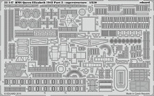 Eduard 1/350 HMS Queen Elizabeth 1943 Part.3 Superstructure for Trumpeter #05324