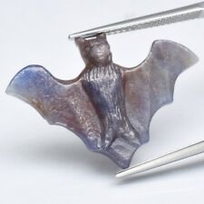 Rare! 9.62ct Flying Bat Carving Natural Unheated Blue Sapphire, Madagascar