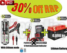 LITHIUM Pack: Battery+3.5A Charger+Dash indicator -Suzuki DR 800 S Big- 1994