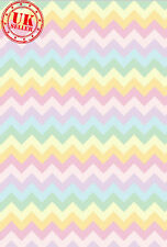 Pastello Arcobaleno CHEVRON BABY Sfondo Sfondo Vinile Photo Prop 5x7ft 150x220cm