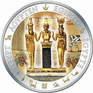 Fiji 2012 Egypt OSIRIS ISIS AND HORUS $1 Silver Proof Coin COA , BOX