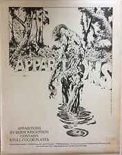 Apparitions Portfolio by Bernie Wrightson, All 4 AUTOGRAPHED Color Plates, Nice,